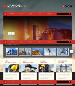 Mẫu website cho công ty xây dựng.