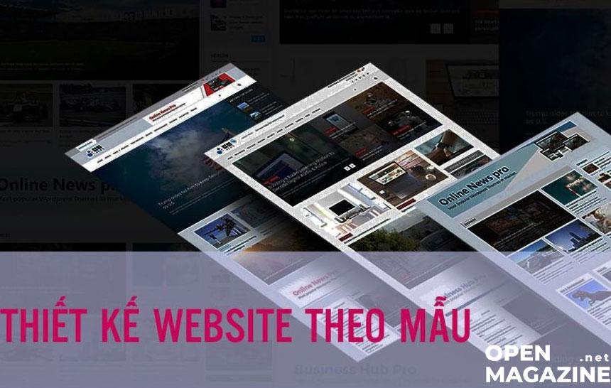Làm website theo mẫu