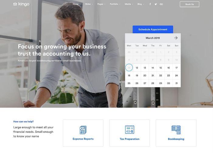 Kingo - mẫu website đặt phòng khách sạn được nhiều người lựa chọn