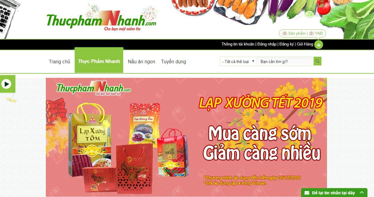 Thực phẩm nhanh - website bán đồ ăn trực tuyến