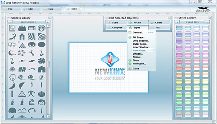 Phần mềm thiết kế logo miễn phí - Jeta Logo Designer