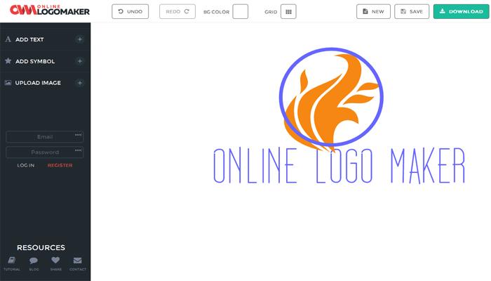 Phần mềm thiết kế logo online - CoolArchive Logo Maker